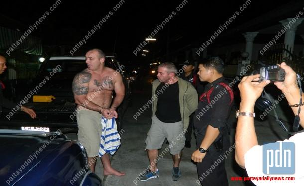 Pattaya  Irish Drunken Duo Stab Two Thais In Beer Bar -4553
